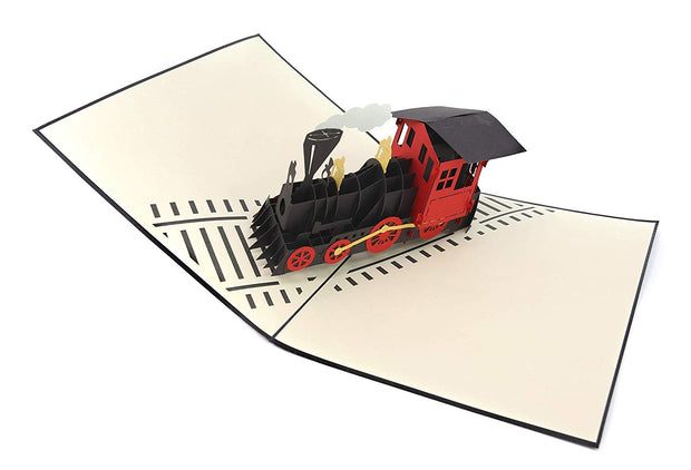 Steam Engine Train Pop Up Card
