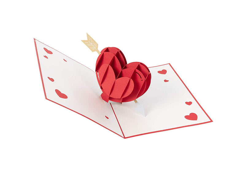 PopLife Cupid's Heart Pop Up Valentine's Day Card for Her