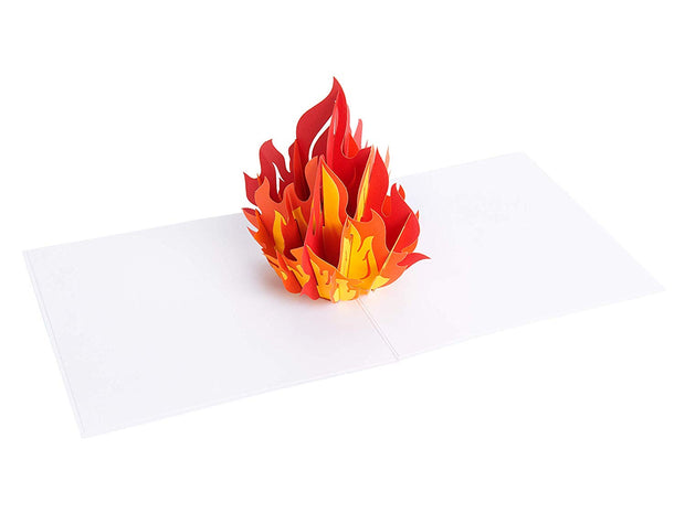 PopLife pop-up card features red flame