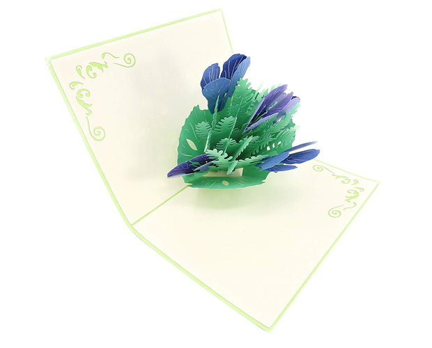 Iris Flower Bouquet Pop Up Card