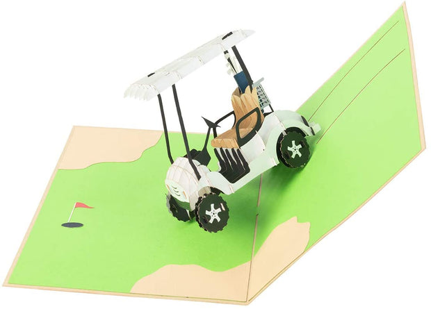 Golf Cart Pop Up Card