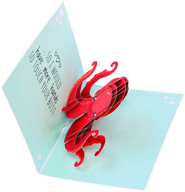 Naughty Octopus Pop Up Card