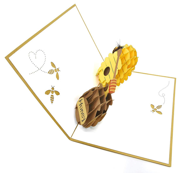 Beehive and Honeypot Pop Up Card