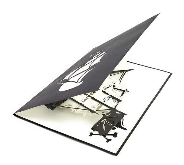 Black Pirate Ship pop up card is blank