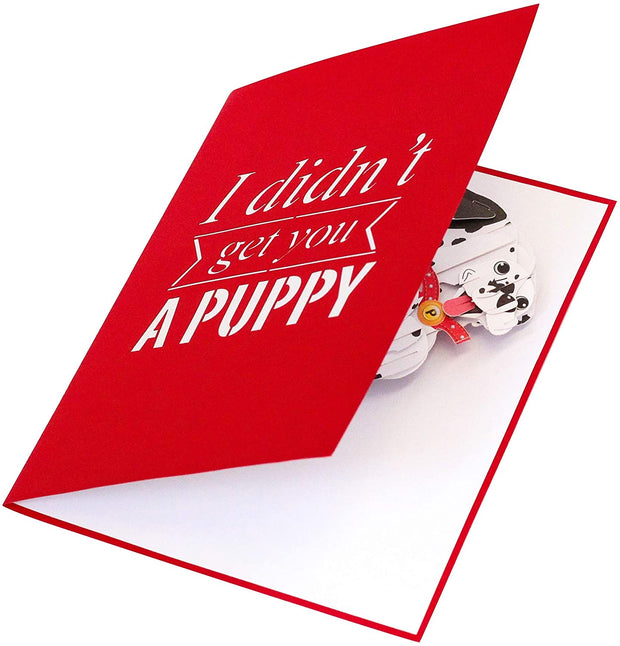 Funny Puppy Pop Up Card