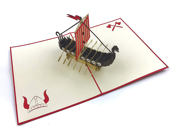 Dragon ship 3D pop-up card