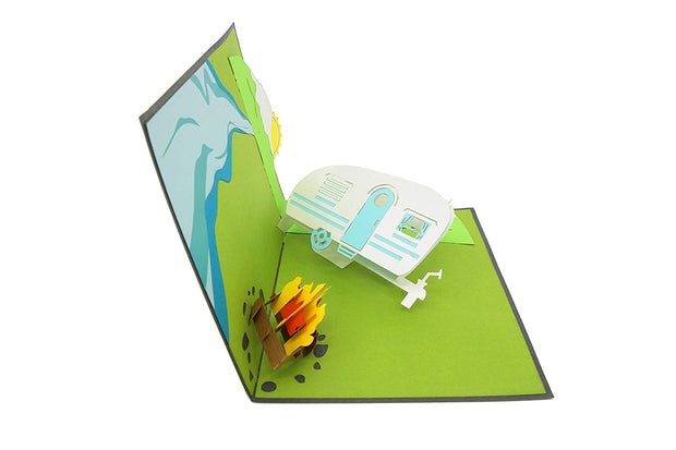 A Pop-up Card perfect for campers and hikers