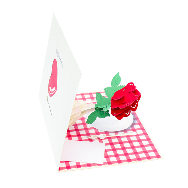 Date Night Rose Pop Up Card
