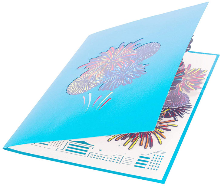 Fireworks Pop Up Card