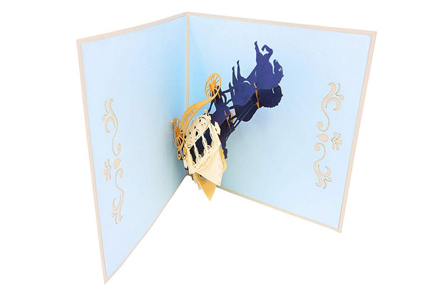 Fairy Tale Carriage Pop Up Card