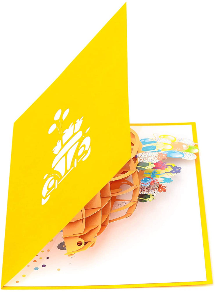 Yellow Bug Pop Up Card