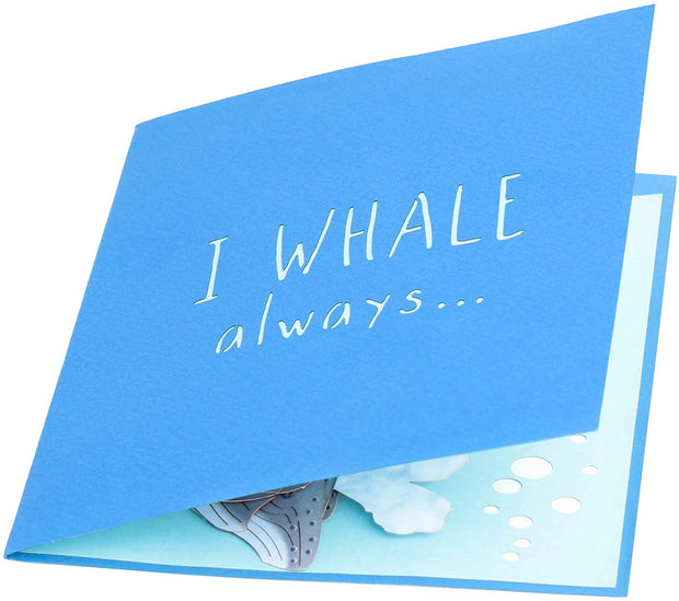 Humpback Whale Parent and Child Pop Up Card