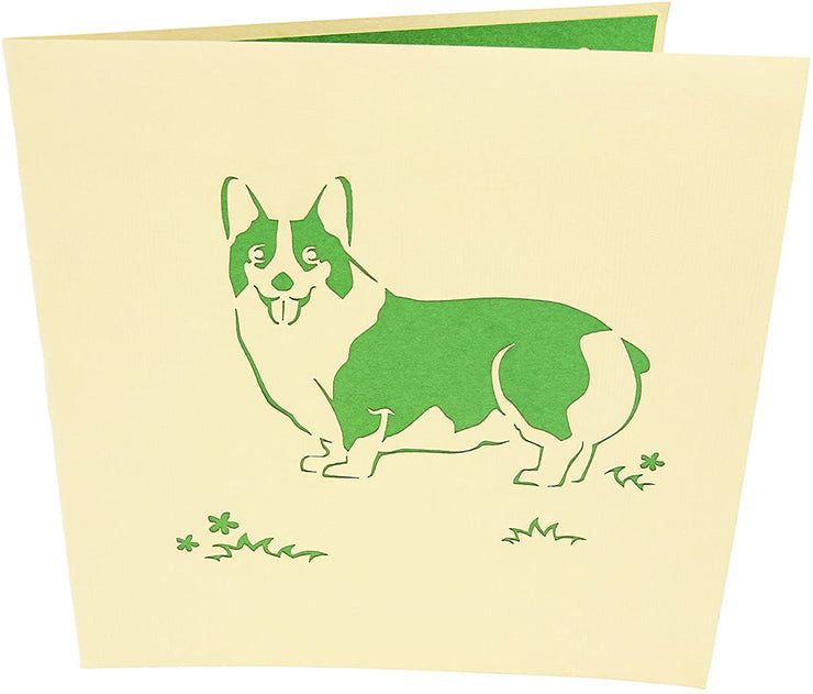 Corgi Puppy Pop Up Card