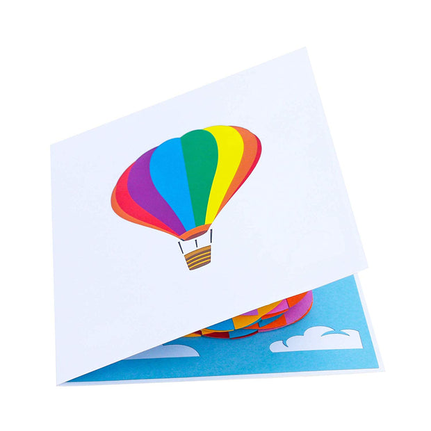 HAPPY BIRTHDAY Hot Air Balloons Pop Up Card