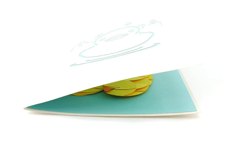 Yellow Rubber Ducky Pop Up Card