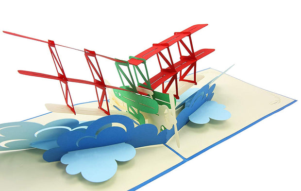 Flying Bi-Plane Pop Up Card