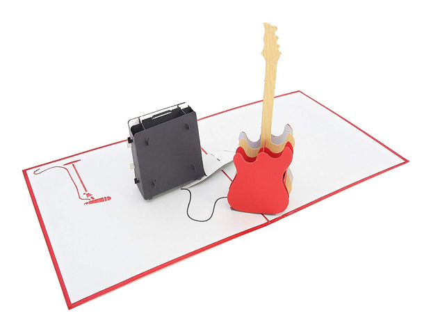 Guitar Pop Up Card