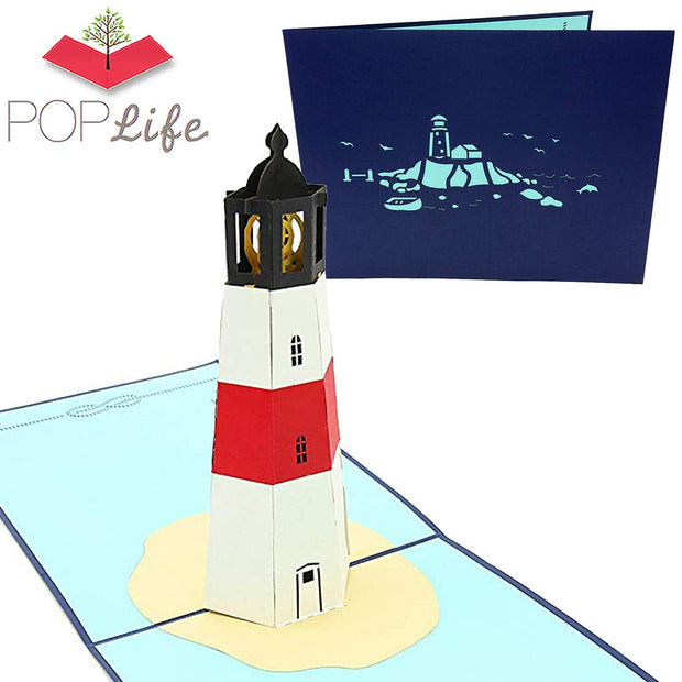 Lighthouse Island Pop Up Card
