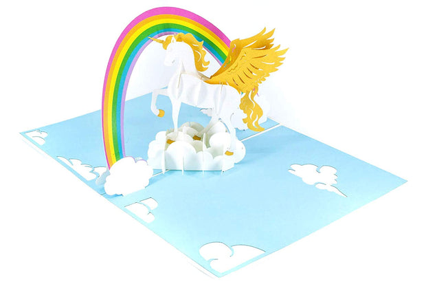Unicorn & Rainbow Pop Up Card