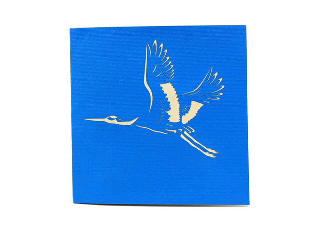 Crane Bird Pop Up Card