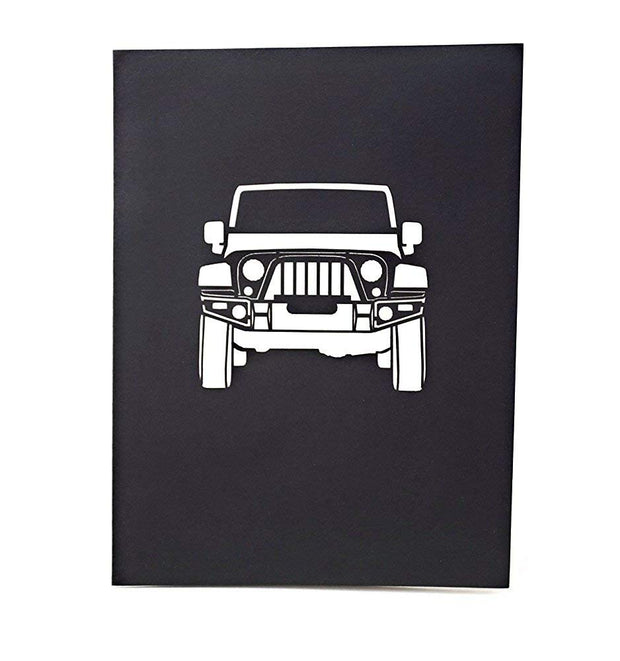 Jeep Truck Pop Up Card