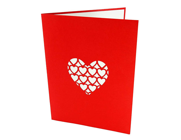 I Love You Heart Pop Up Card