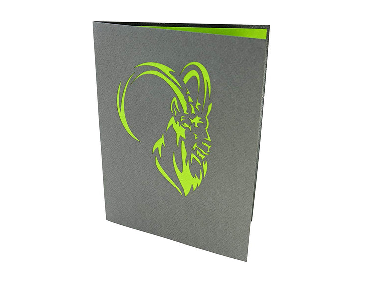 Mountain Goat Pop up Card