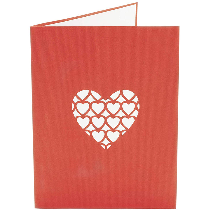 I Love MOM Heart Pop Up Card