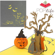 Halloween Pumpkin & Tree Pop Up Card