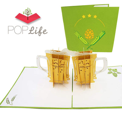 Craft Beer Card Pop Up Card