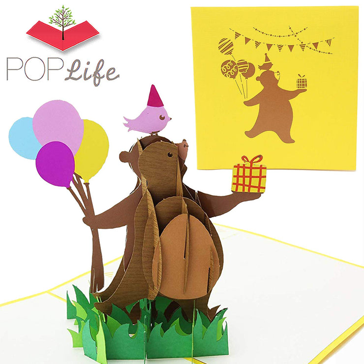 PopLife Dancing Bear Pop Up Card