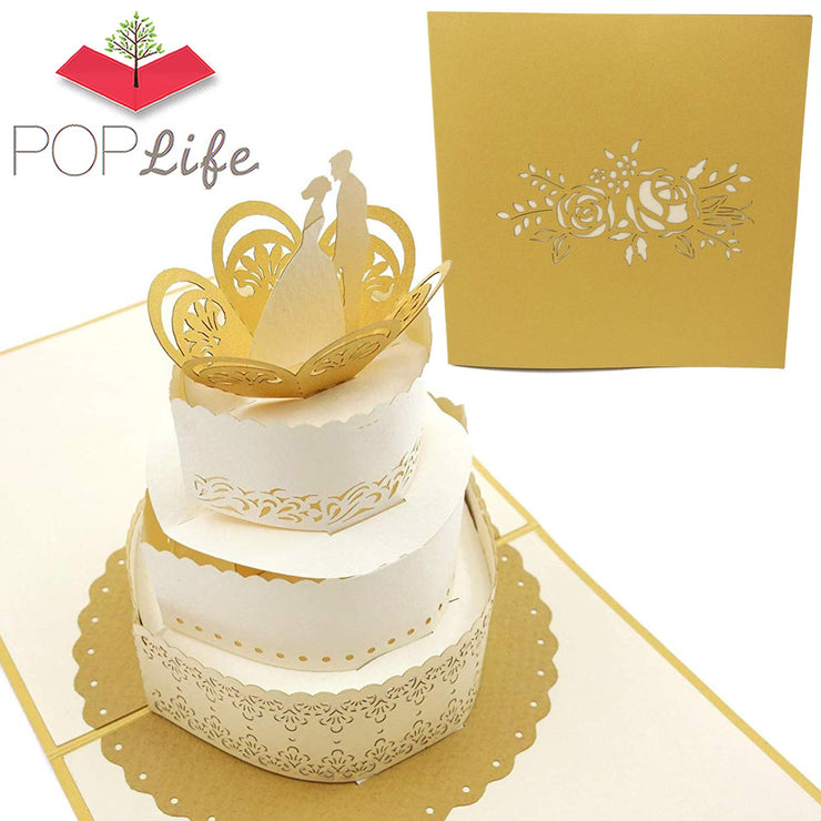 Wedding Cake Pop Up Wedding Card