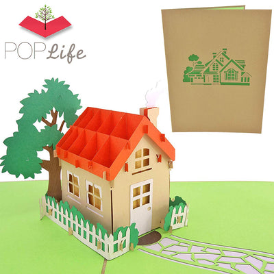 PopLife Home Family House Pop Up Card
