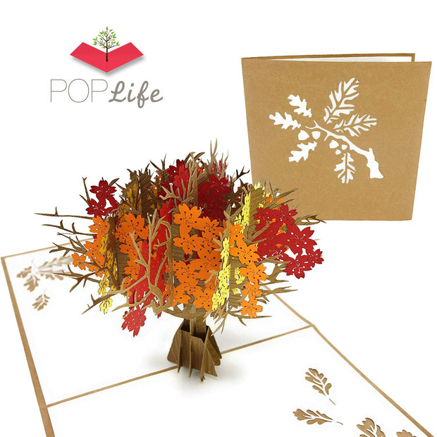 Autumn Fall Tree Pop Up Card
