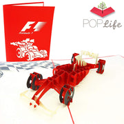 PopLife Formula One Car Pop Up Card