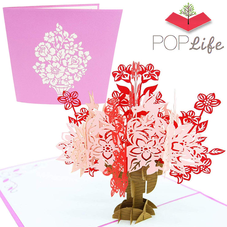 Flower Bouquet & Vase Pop Up Card
