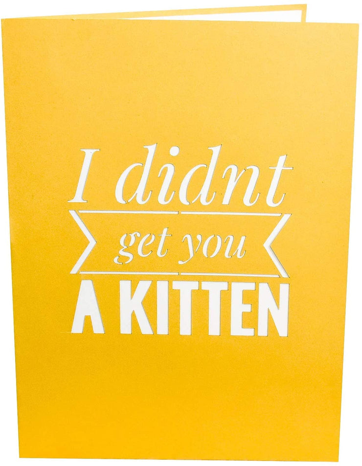 Funny Kitten Pop Up Card - GivePop, $1 donated to the Humane Society