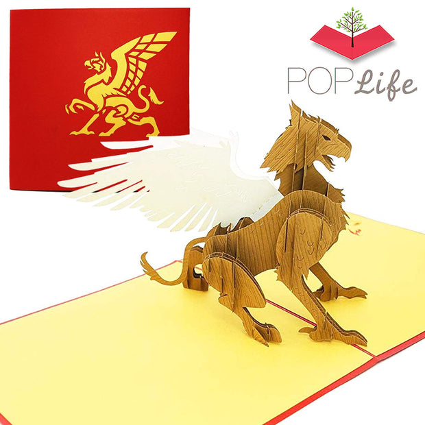 Magical Griffin Pop Up Card