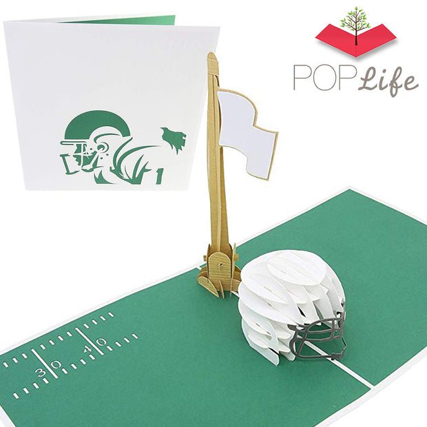 PopLife Football Field and Helmet Pop Up Card