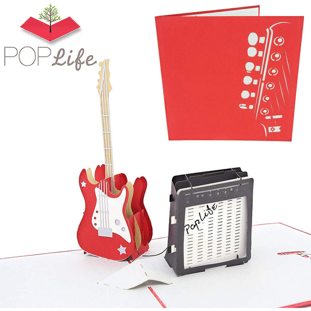 PopLife Guitar Pop Up Card