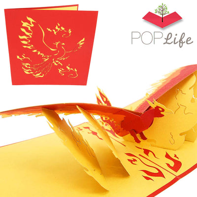 Rising Phoenix Pop Up Card