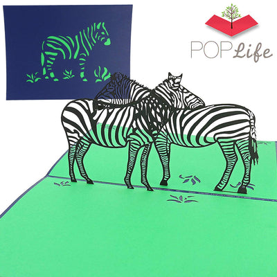 PopLife Zebra Pop Up Card
