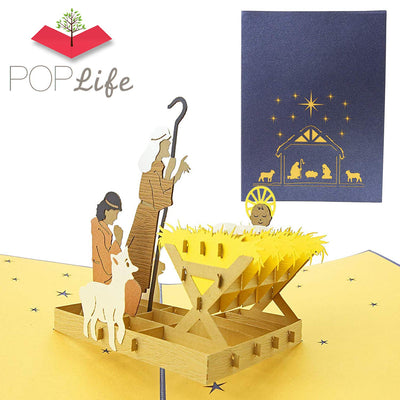 Christmas Nativity Scene Pop Up Holiday Card