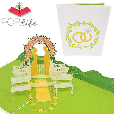 Summer Wedding Pop Up Card