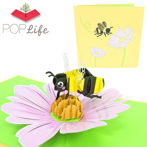 PopLife Bumblebee and Flower Pop Up Card