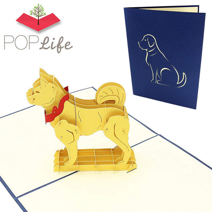 Happy Dog Pop Up Card