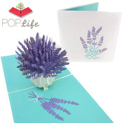 PopLife French Lavender Flower Bouquet Pop Up Card