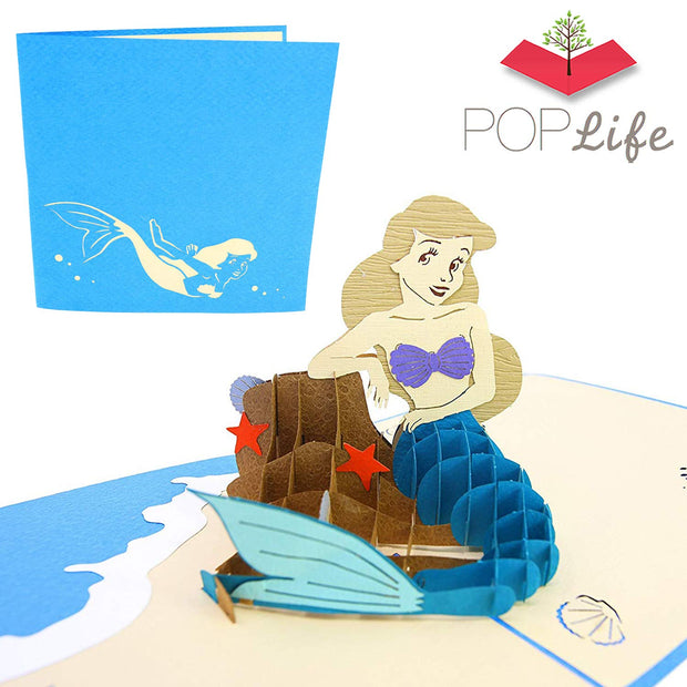 Beautiful Mermaid Pop Up Card