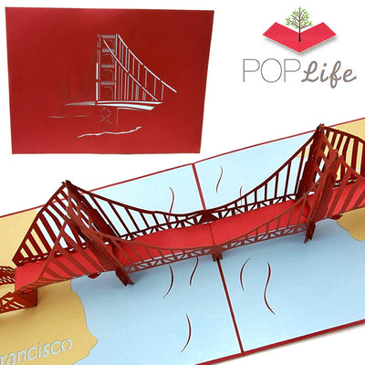PopLife Golden Gate Bridge Pop Up Card