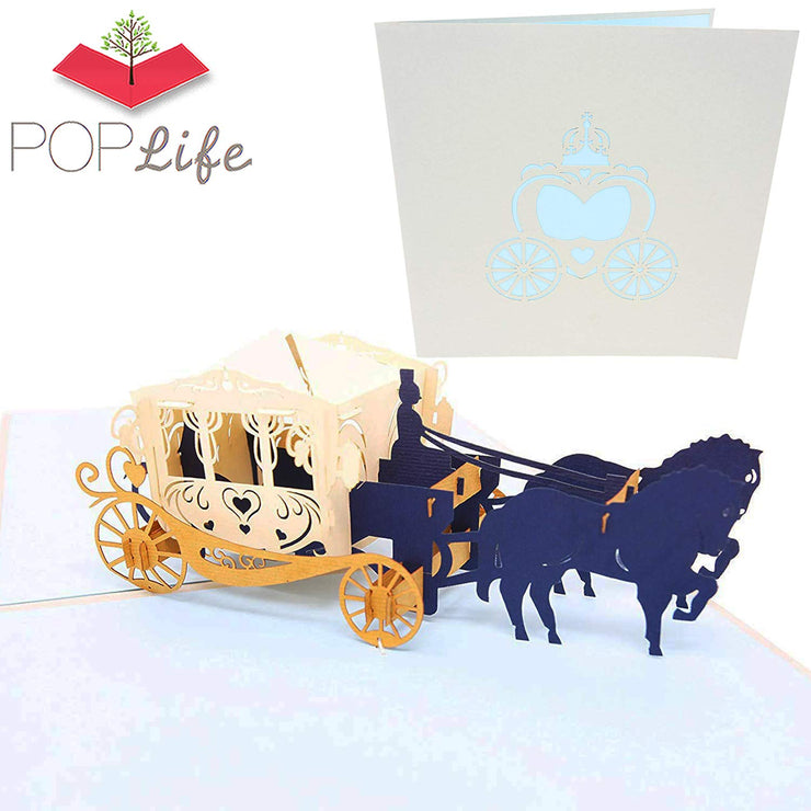 PopLife Fairy Tale Carriage Pop Up Card
